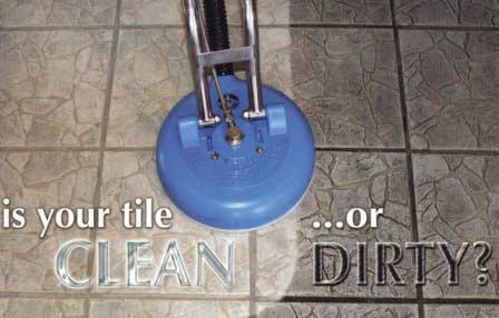 Clean and dirty tile being cleaned - is your tile Clean or Dirty?